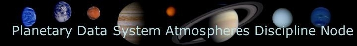 Atmospheres/Planetary Data System Banner